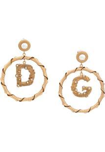 Dolce & Gabbana Par De Brincos Com Esferas Peroladas - Dourado