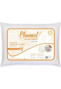 Travesseiro Toque De Pluma 45X65Cm Fibra Siliconizada 233 Fios Plumasul