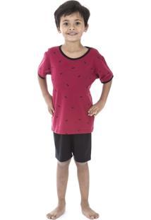 Pijama Curto Infantil Inspirate Piquet - Masculino