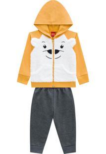 Conjunto Infantil Jaqueta + Calça Amarelo