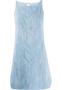 Ermanno Scervino Vestido De Tricô - Azul