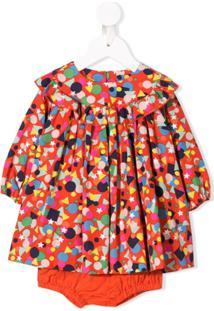 Stella Mccartney Kids Vestido Com Peplum - Vermelho