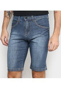 Bermuda Jeans Hd Slim 025 Masculina - Masculino-Azul