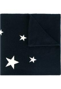 Chinti & Parker Cachecol Com Aplicação De Estrelas - Azul