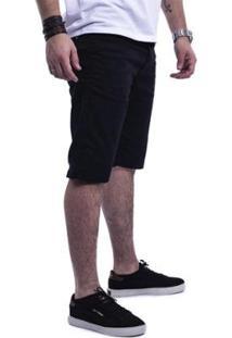Bermuda Masculina Sarja Jeans Visual Jeans - Masculino-Preto