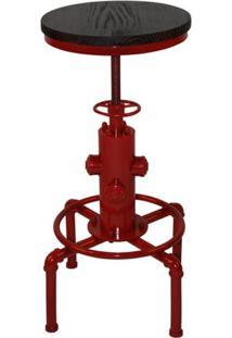 Mesa Bistro Industrial Vermelha 76 A 91 Cm (Alt) - 37943 - Sun House
