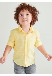 Camisa Infantil Manga Longa Com Bolso Hering Kids