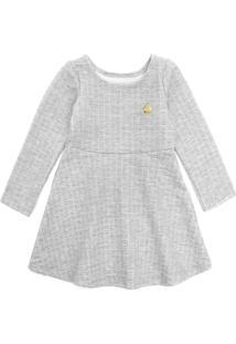 Vestido Elian Infantil Matelassê Cinza