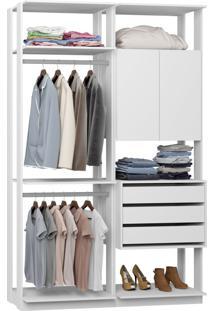 Closet 2 Portas 3 Gavetas 9014 Branco - Bentec