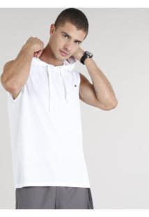 Regata Masculina Esportiva Ace Com Capuz Branca
