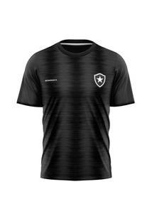 Camisa Botafogo Braziline Part Masculina - Chumbo