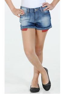 Short Infantil Jeans Puídos Marisa