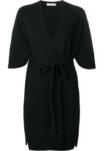 Dorothee Schumacher Kimono De Tricô Com Amarração - Preto