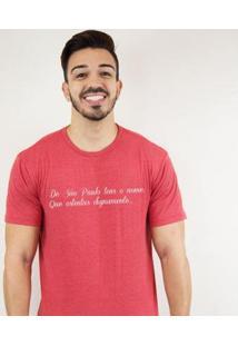 Camiseta Zé Carretilha - Sao-Tricolor-Tensonome Masculina - Masculino