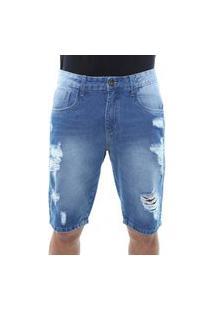Bermuda Jeans Masculina Destroyed Crocker - 47789
