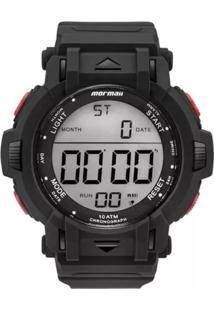 Relógio Mormaii Digital Mom08111A8R Preto/Vermelho - Kanui