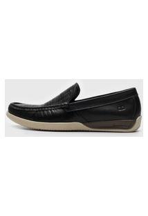 Sapato Democrata Texturizado Preto