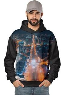 Casaco De Moletom New City Downtown Night Di Nuevo Masculino - Masculino-Preto