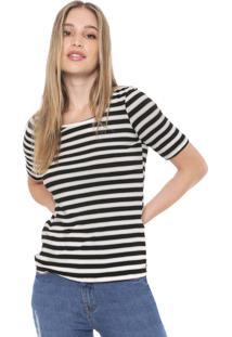 Camiseta Mob Listrada Preta/Off-White