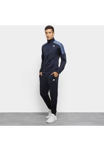 Agasalho Adidas Badge Of Sport Track Suit Masculino - Masculino-Marinho+Azul