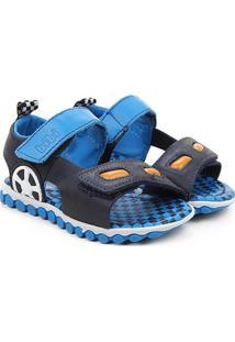 Sandália Infantil Bibi Summer Roller Masculina - Masculino-Marinho+Azul