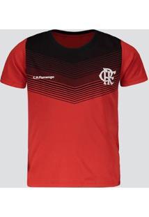 Camisa Flamengo Forest Infantil Vermelha E Preta - Masculino