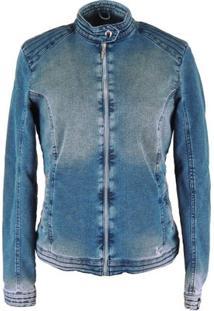 Jaqueta Fiero Térmica Jeans Queens - Feminino-Azul
