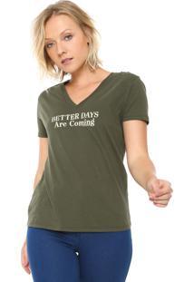 Camiseta Calvin Klein Jeans Better Days Verde