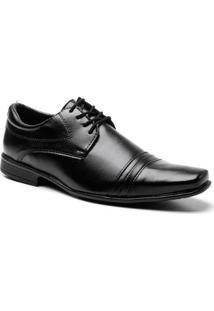 Sapato Social Frampasso Recortes Masculino - Masculino-Preto