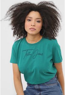 Camiseta Triton Lettering Verde