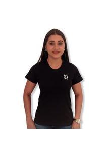 Camiseta Lobo Basic Feminina Preta