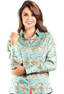 Camisa Feminina Slim Floral Pequeno Carlos Brusman