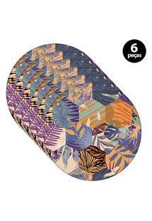 Capa Para Sousplat Mdecore Ornamental Chumbo 6Pçs