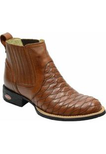 Bota Country Escrete Floater Escamada - Masculino-Marrom