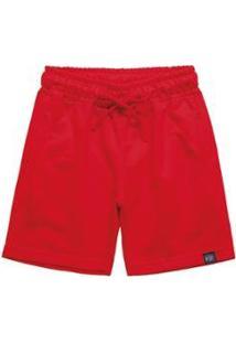 Bermuda Moletom Quimby Infantil Masculino - Masculino-Vermelho