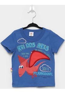 Camiseta Infantil Zig Zig Zaa Tradicional Rei Dos Ares Masculina - Masculino-Azul