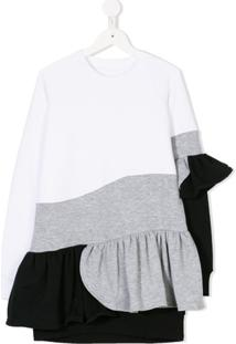 Ioana Ciolacu Kids Vestido Color Block - Estampado