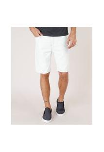 Bermuda Jeans Masculina Slim Com Puídos Azul Claro