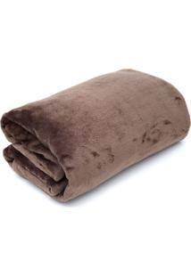 Cobertor Casal Camesa Velour Microfibra Neo Marrom