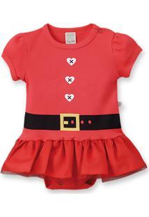 Body Vestido Pingo Lelê Natal Vermelho