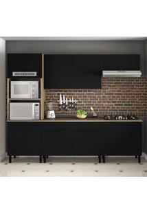 Cozinha Compacta Itamaxi I 10 Pt 3 Gv Preta E Castanho