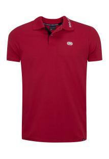 Camisa Polo Ecko Fashion Bas E954A - Masculina - Vermelho