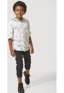 Camisa Infantil Menino Com Capuz Estampada Hering Kids