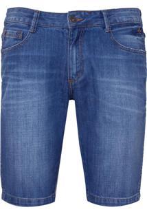 Bermuda Dudalina Blue Reservas Jeans Masculina (Jeans Medio, 48)