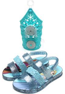 Sandália Grendene Kids Menina Frozen Snow Power Azul