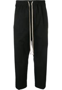Rick Owens Drop-Crotch Trousers - Preto