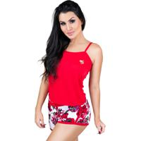 7b953dd07 Dafiti. Pijamas Mvb Modas Curto Adulto Regata E Short Doll Vermelho