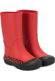 Burberry Kids Hurston Rain Boots - Vermelho
