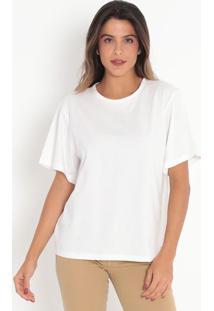 Camiseta Com Botões- Off White- Colccicolcci