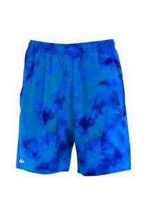 Bermuda Estampada Com Elastano Tie-Dye Azul Bermuda Estampada Com Elastano Tie-Dye Azul P